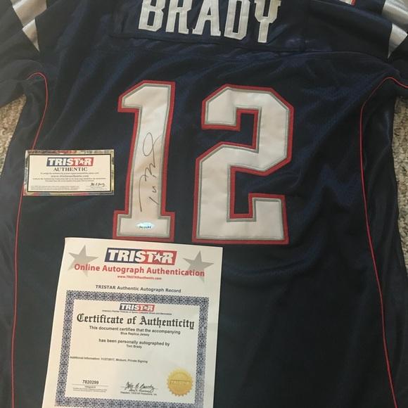Tom Brady signed tristar jersey